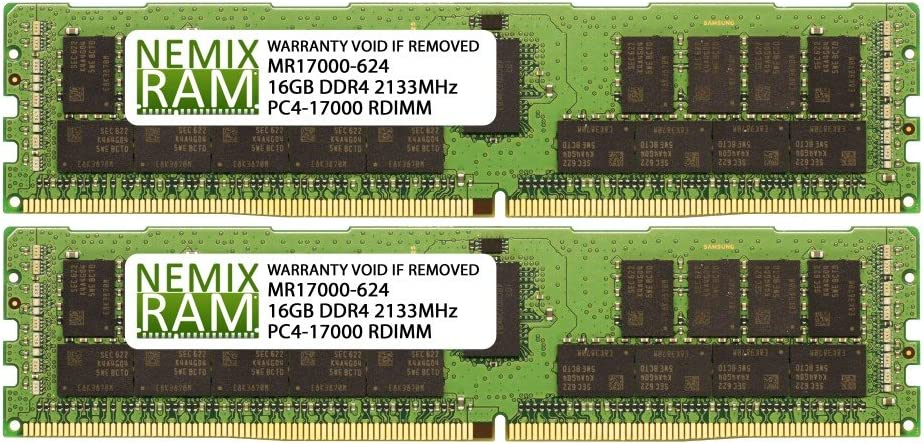 2x16GB RDIMM Memory NEMIX RAM N8102-613F for NEC Express5800//R120f-1M 32GB