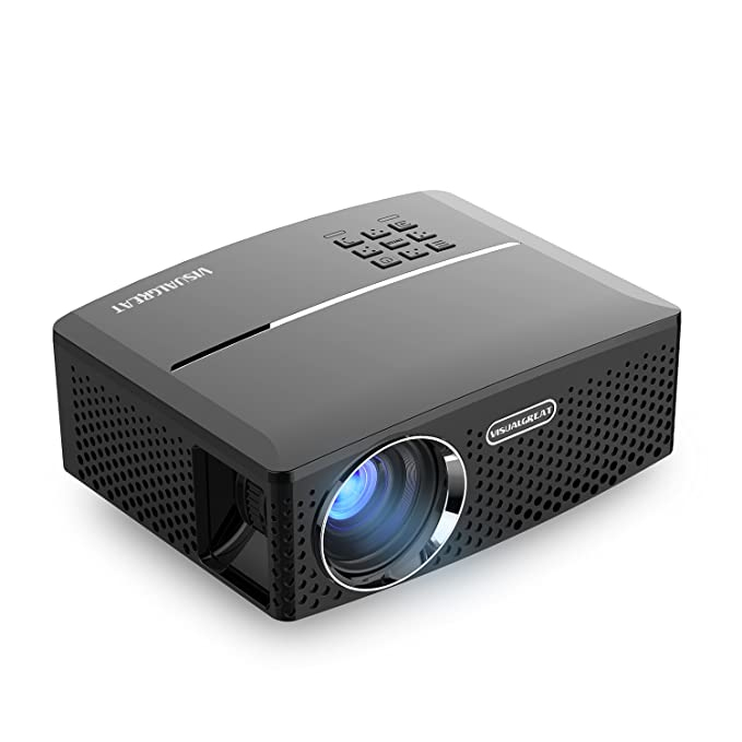 Visual Great Gp80 Projector, Portable Size Top Game Video Entertainment,1800 Lms Led Light Output Brightness For Home Theater 1080 P Ready Via Double Usb To Achieve Your Movie At Your Family Party by Seo Jack