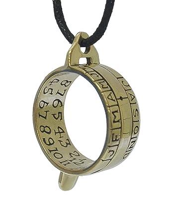 Reloj solar-colgante campesinos anillo de latón: Amazon.es: Ropa y accesorios