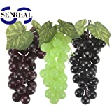6Pcs Bunch of Artificial Fruit Grapes Fake Fruit Crafts Fruit Plate Accessories Home Accessories Wedding Party  Decoration Bars Example Room Hutch Art Decor Table Display Color Randomly
