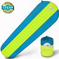 Self Inflating Sleeping Pad – Sleeping Pad - Lightweight Sleeping Pad - Mat for Camping Hiking Backpacking - Premium Insulated Sleeping Mattress for Outdoors - Comfortable Pad