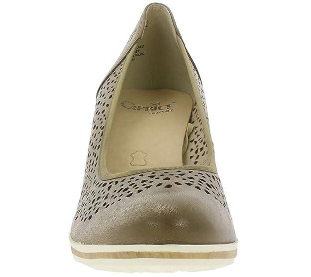CAPRICE Stamp Damen Schuhe Echtleder Pumps Absatz Schuhe