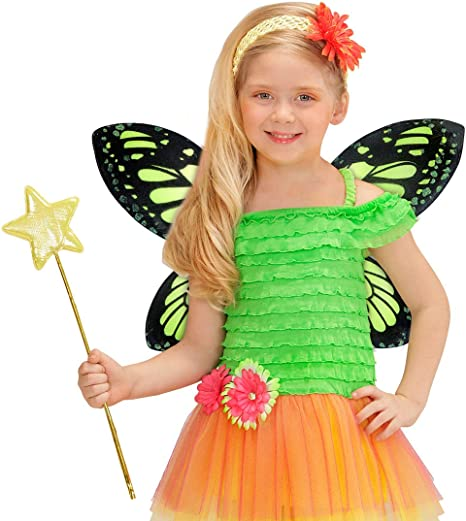 NET TOYS Alas de Mariposa para niños Alas de Elfo Verde y Negro ...