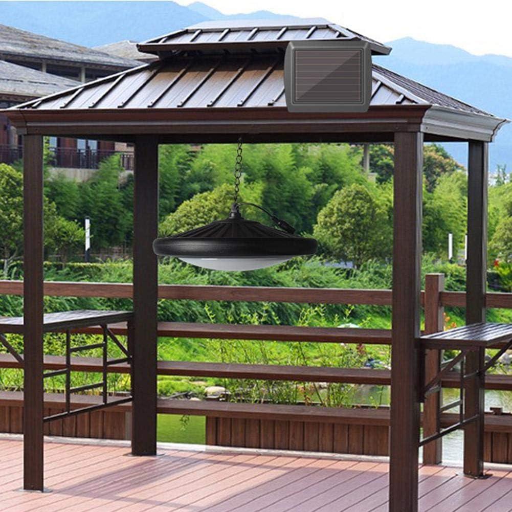 Starnearby Lámpara solar para exterior, lámpara de techo solar con ...
