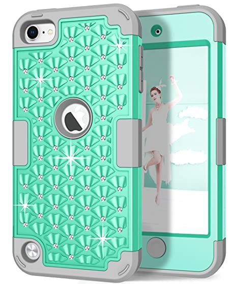 size 40 a22c7 dc9b0 iPod Touch 6th/5th Generation Case, iPod Touch 6/5 Case, Hocase Bling  Sparkle Glitter Shockproof Silicone Heavy Duty Protective Hard Case iPod  Model ...