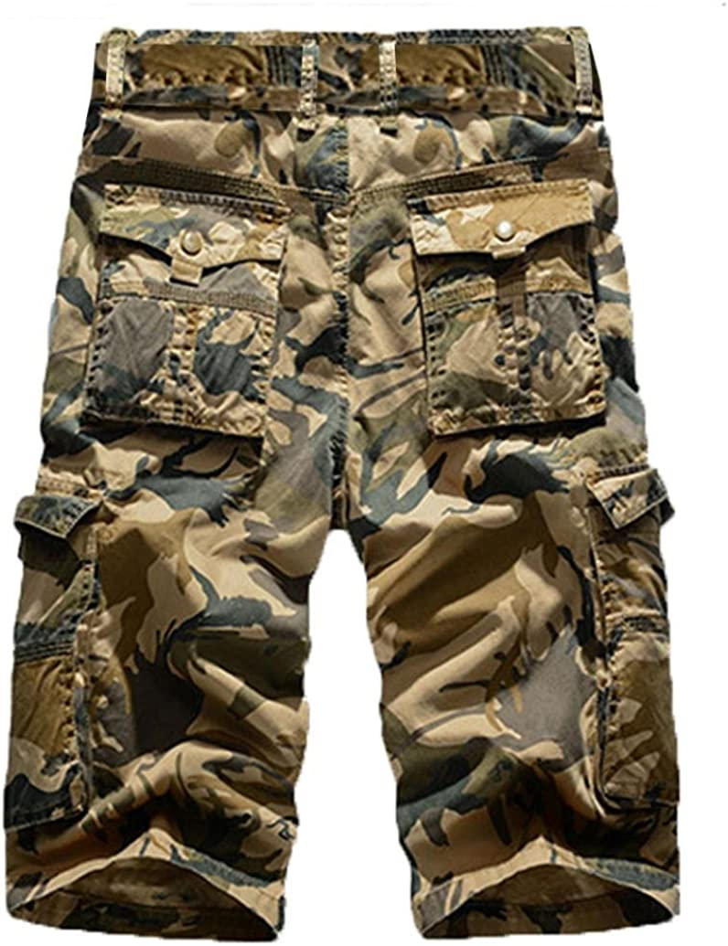 Mens Casual Pure Color Outdoors Pocket Beach Work Trouser,PSASATO Cargo Shorts Pant