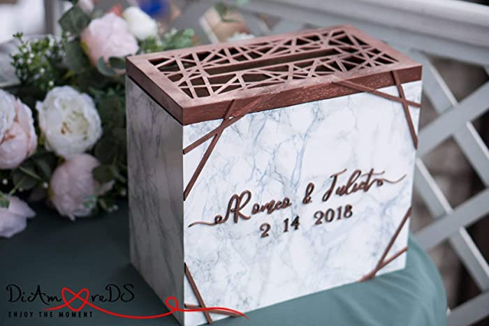 Amazon Com Wedding Card Box With Slot And Lock Wedding Card Holder