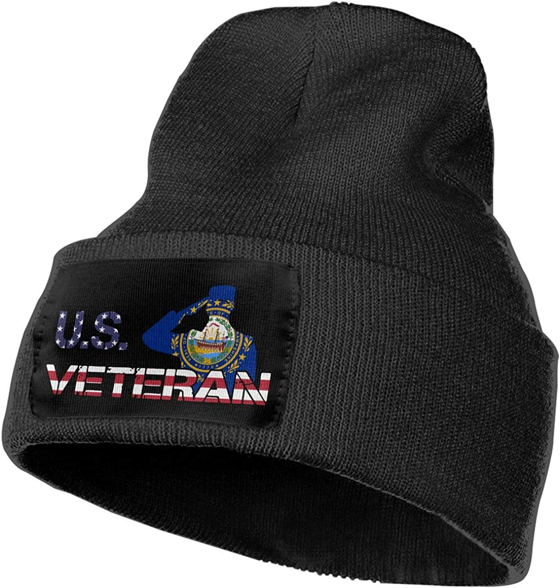 COLLJL-8 Men//Women American Veterans Day New Hampshire Flag Outdoor Stretch Knit Beanies Hat Soft Winter Knit Caps
