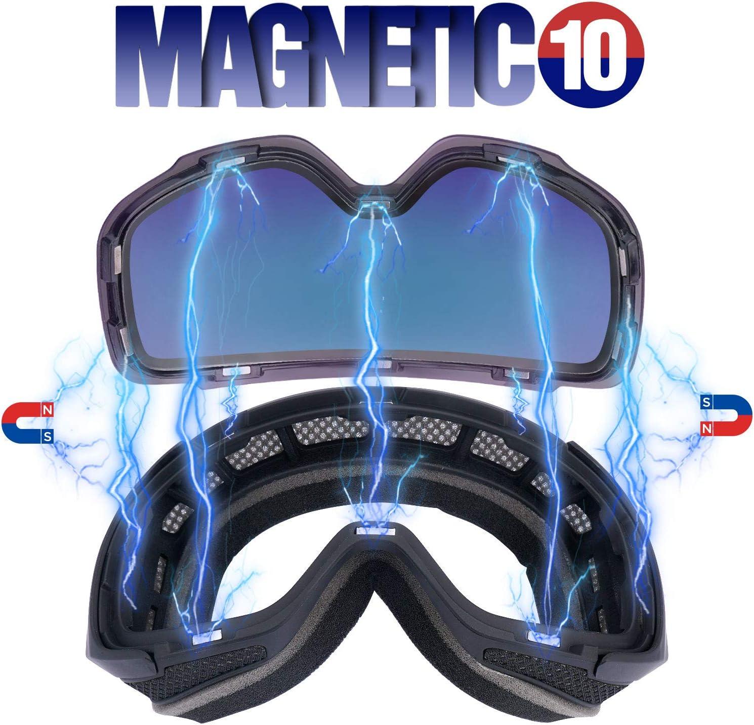 Gafas de Snowboard Sin Marco magn/ético Intercambiable 100/% UV400 Protecci/ón Doble Capa Lente Correa Antideslizante Casco Compatible para Hombres y Mujeres J/óvenes LEMEGO Gafas de Esqu/í