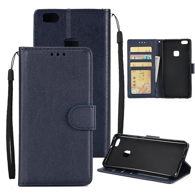 39 opinioni per MOONESS Custodia Huawei P10 Lite Wallet Cover Retro Portafoglio con Cinturino da