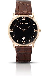 Sekonda herren armbanduhr analog leder schwarz 3697 27
