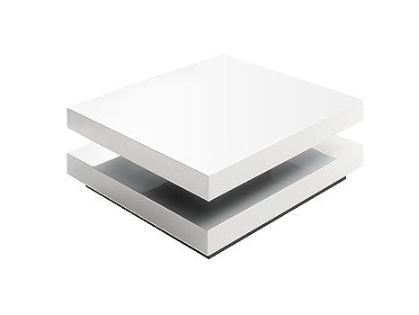 Robas Lund Hugo Mesa de Centro y de Salón, Madera, Blanco, 22x83x84 cm