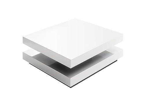 Tischplatte weiß hochglanz  Robas Lund Couchtisch Wohnzimmertisch Hugo Hochglanz weiß ...