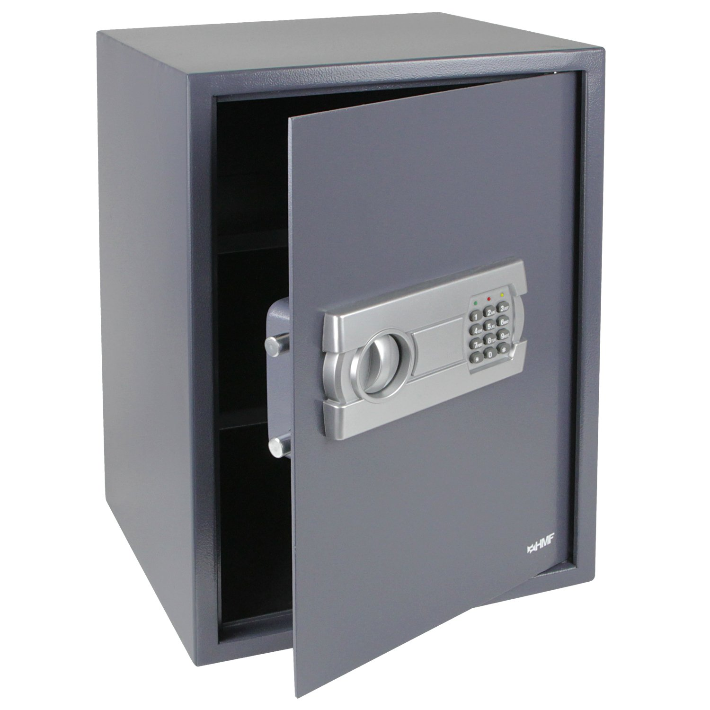 HMF 4612512 Tresor, Möbeltresor Elektronikschloss, 50,0 x 35,0 x 33,0 cm , anthrazit