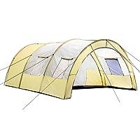 TecTake Tente tunnel de camping famille Imperméable 4-6 personnes - diverses couleurs au choix -
