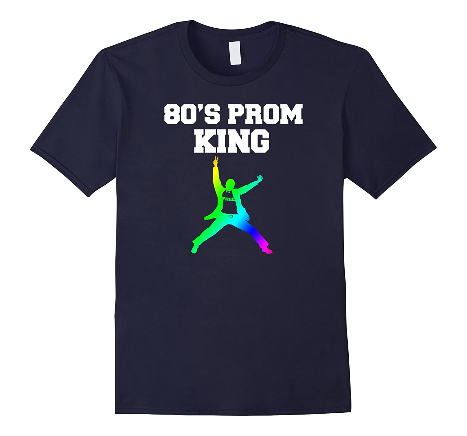 Mens 80s Prom King Eighties Party Shirt for 80s Theme Party-TD