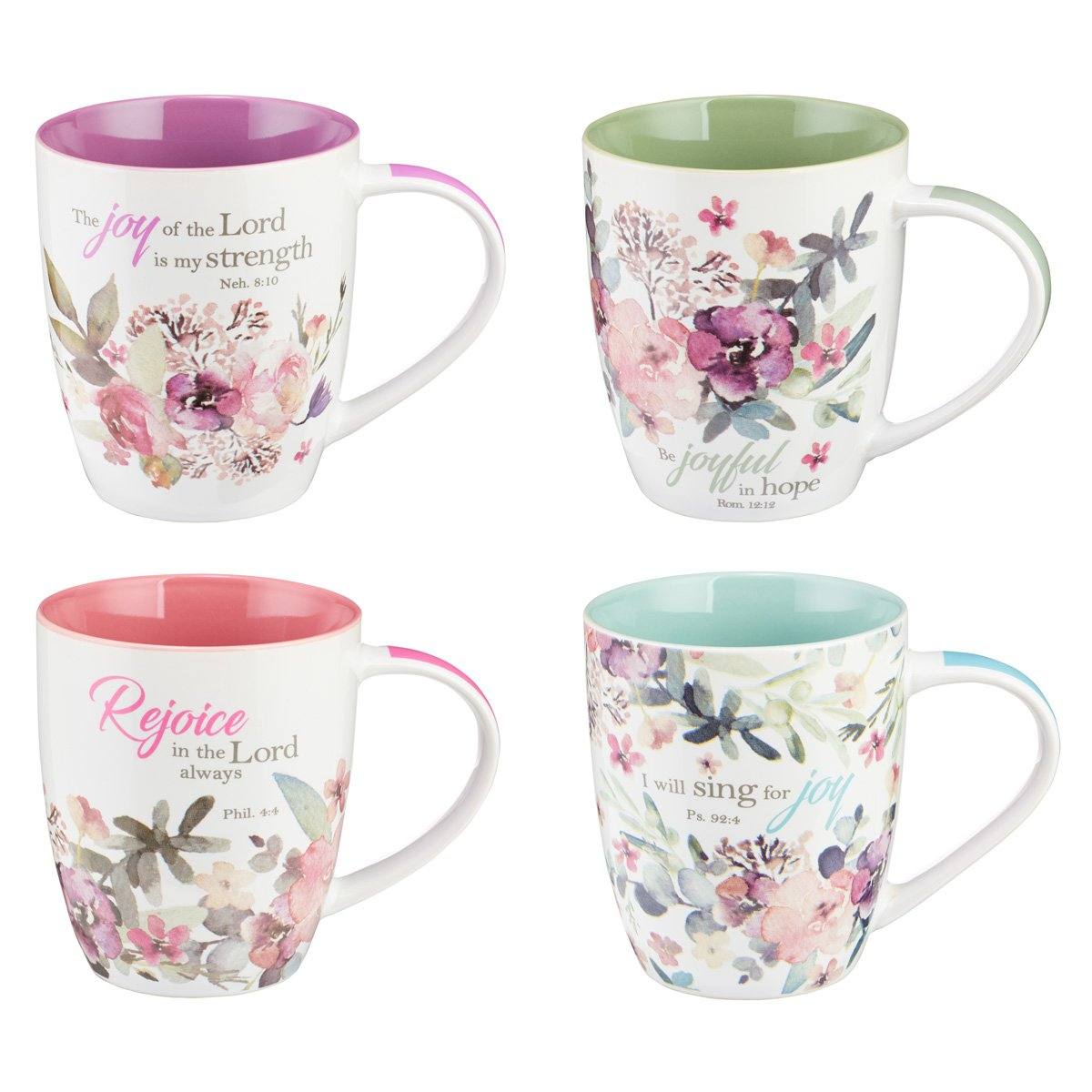 Christian Art Gifts Mug Set-Rejoice (Set Of 4) by Christian Art Gifts