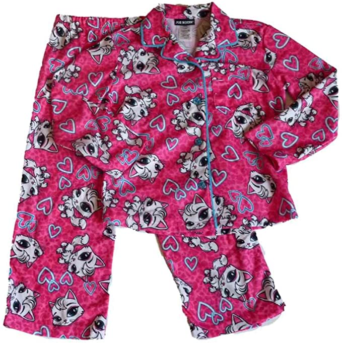 Joe Boxer Women/'s Star Pink Flannel Pajama Top /& Pants 2-pc Sleepwear Set