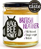 Black Bee Honey British Ling Heather Honey - Pure and Natural, raw, Single Origin British/UK Honey (230g Glass jar)