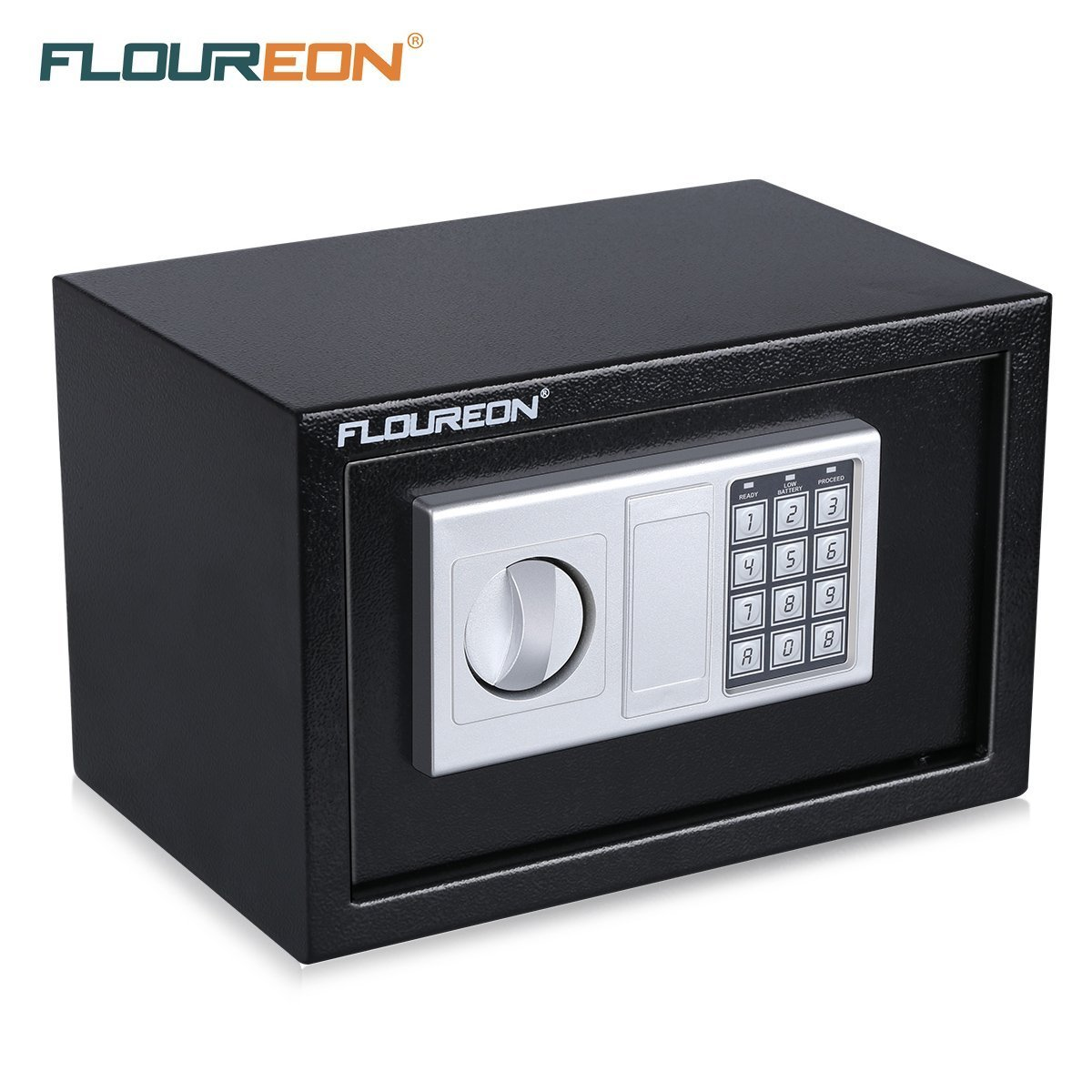 FLOUREON Security Safe Lock Box Solid Steel Security Safe Box Keypad Lock Electronic Digital for Home /Office /Hotel Business /Jewelry Gun Cash Storage(Model 3)