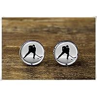 Ice Hockey Cufflinks, Sports Cufflinks, Hockey Jewelry