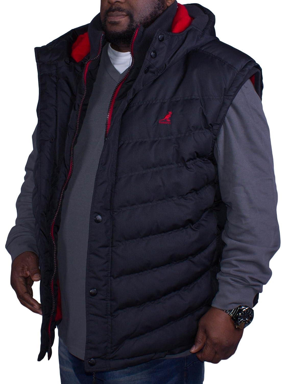 Big Mens Kangol Angus Gilet Black 2XL 3XL 4XL 5XL