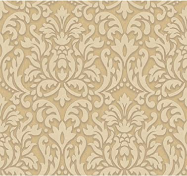 York Wallcoverings Dimensional Effects Adele Removable Wallpaper Gold Cream Taupe Amazon Com