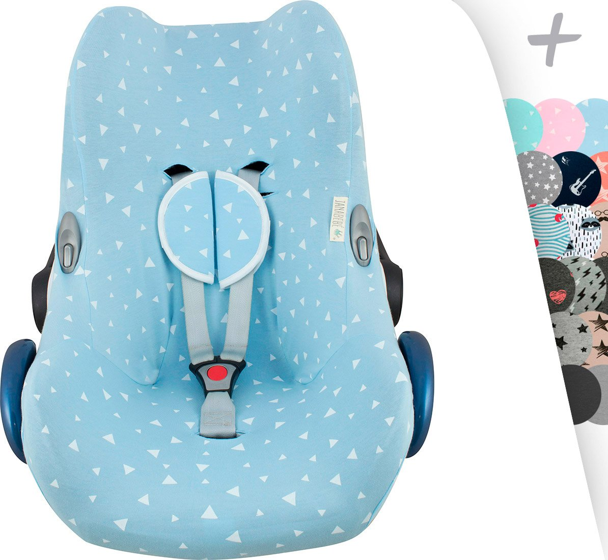 Maxi-COSI Cover Liner for Cabriofix, Citi, Streety Fix, Jané Koos by Janabebe + Harness Protection Pads (Rock Hero) 618