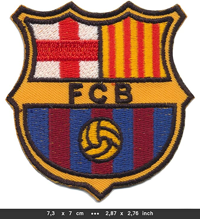 FC Barcelona barca Sew de hierro en parches de balón de fútbol ...