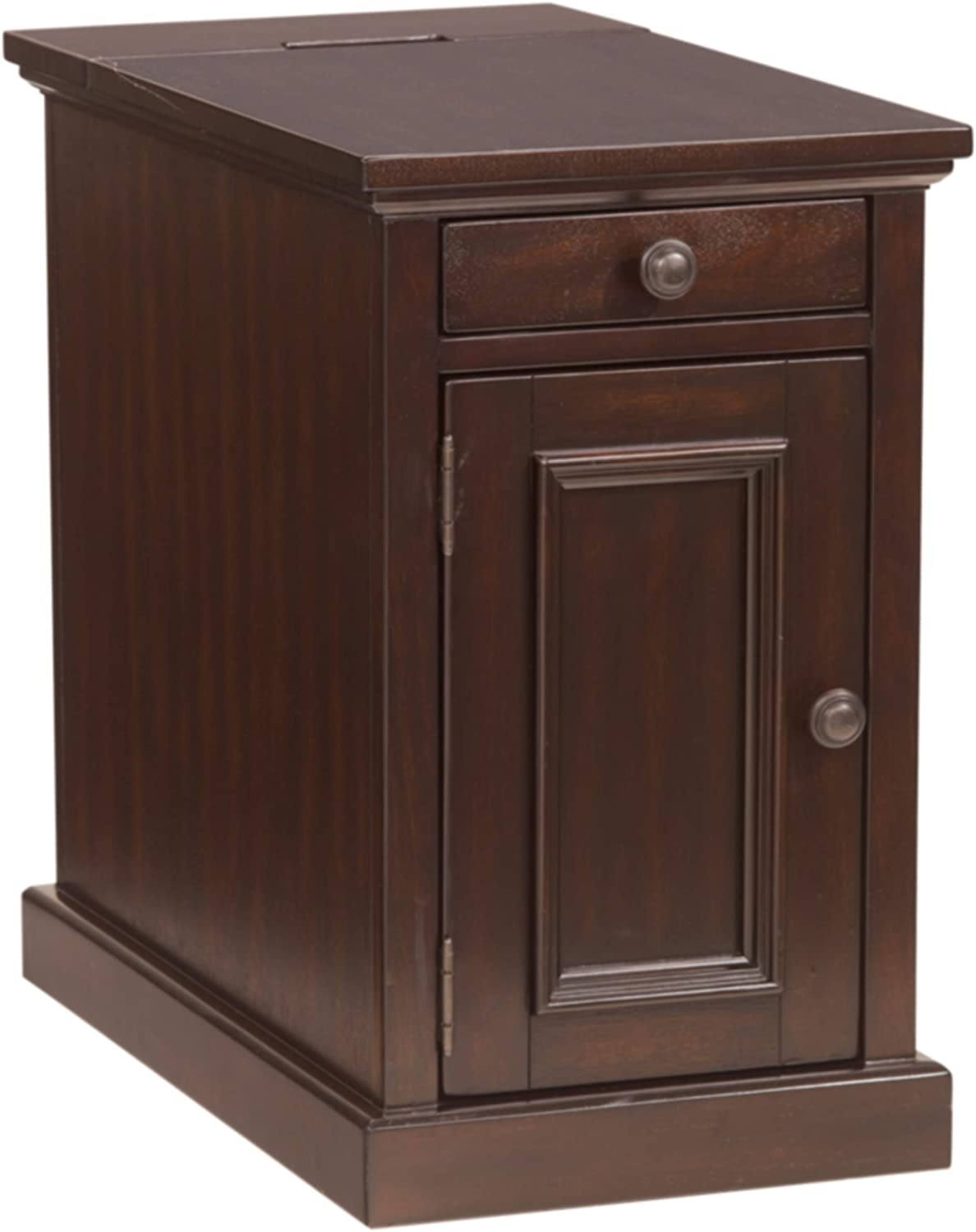 Signature Design by Ashley Laflorn Chairside End Table with USB Ports & Outlets - Sable