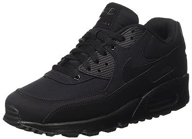 sale retailer 515d2 4685c Nike Air Max 90 Herren schwarze Turnschuhe - Schwarz, Synthetik und  Netzgewebe, EU 40