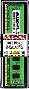 A-Tech 4GB Memory RAM for Dell Inspiron 660s - DDR3 1600MHz PC3-12800 Non ECC DIMM 1Rx8 1.5V - Single Desktop Upgrade Module (Replacement for A7398800)