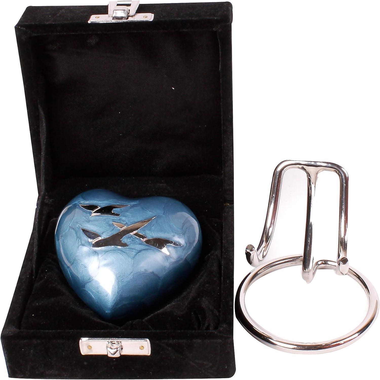 But my Heart was not Edelstahl kleine Ein/äscherungsurnen f/ür Asche harygate Personalisierte Mini-Urne f/ür Asche Your Wings were ready