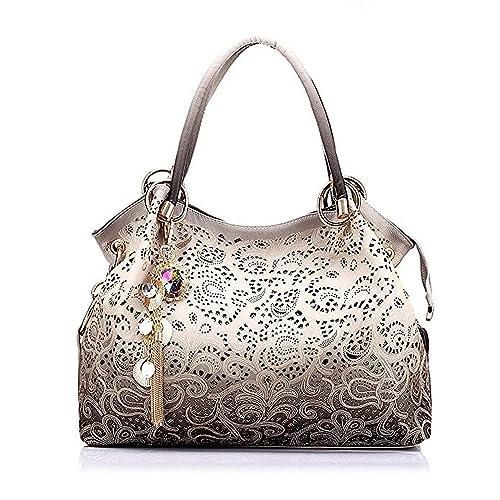 97761b9c9d6a3 Pahajim 2017 Women Bag Messenger Bags Fashion Printing Flowers Bag Handbags  for Women (Gray)
