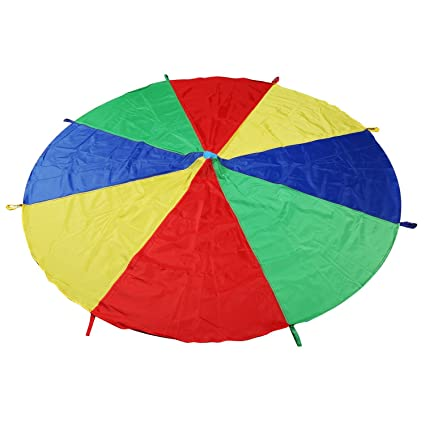Kids School Outdoor Baby Game Play Tent 6~8 Kids Parachute Toy Develop 8 Color