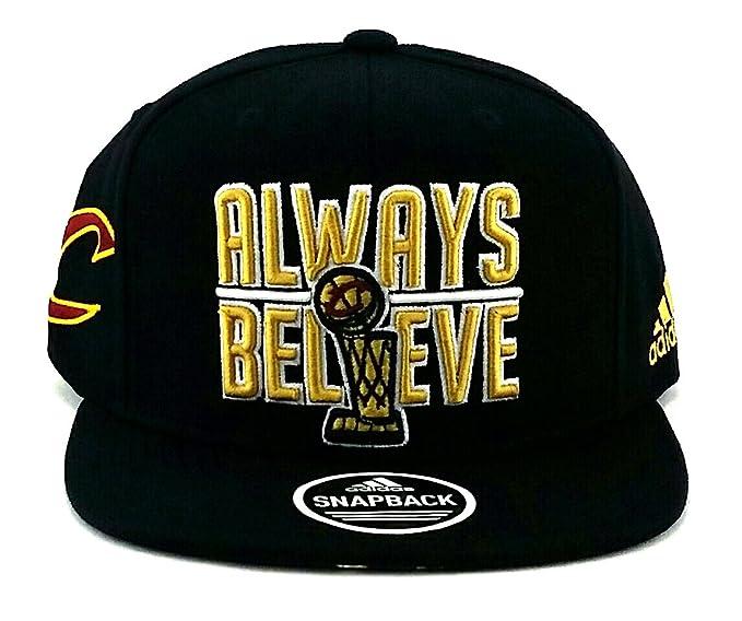 7fff0c61536f9 Amazon.com   adidas Cleveland Cavaliers New NBA Finals Trophy Always  Believe Finally Black Era Snapback Hat Cap   Sports   Outdoors