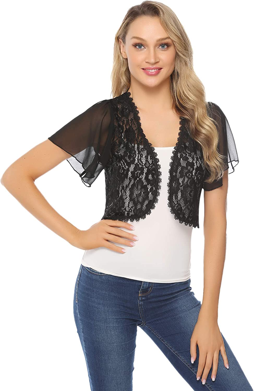 Hawiton Girls Knit Bolero Long Sleeve Shrug Cotton Lightweight Open Front Cardigan
