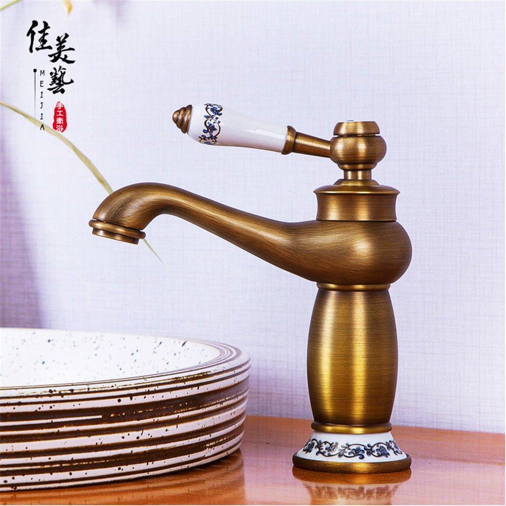 NewBorn Faucet Wasserhähne Warmes und Kaltes Wasser Größe Qualität antiken Tisch Becken niedrig, Wasser Taichung Becken Kupferfittings Tippen