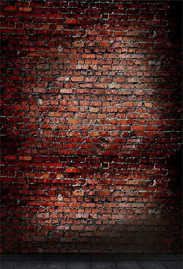 6x4ft Grunge Peeled Wall Photography Background Men Boy Adults Portrait Old Aged Red Birck Wall Computer Printed Backdrop for Events Video Drape Photo Studio Props