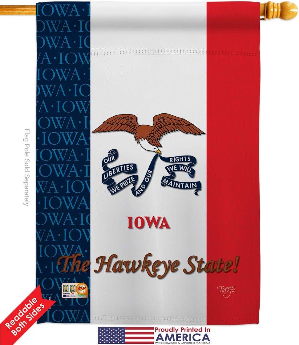 "/""IMPRESSIONS/"" IOWA STATE MINI  GARDEN FLAG"