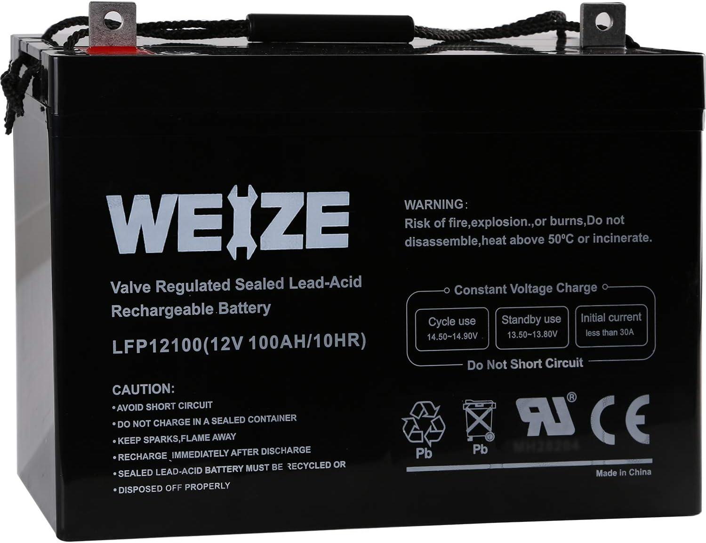 Best AGM Battery for Solar - Weize 12V 100AH