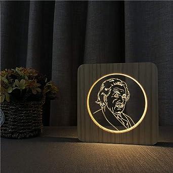 Albert Einstein Científico famoso Acrílico Lámpara de mesa de luz ...
