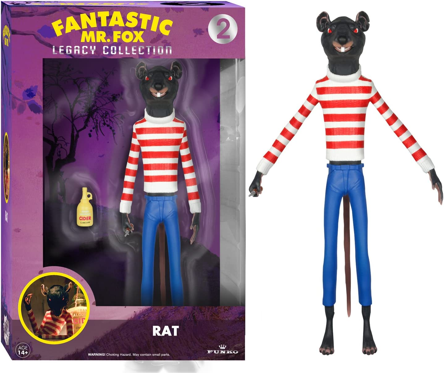 Amazon Com Funko Legacy Action Fantastic Mr Fox Rat Action Figure Funko Legacy Collection Toys Games