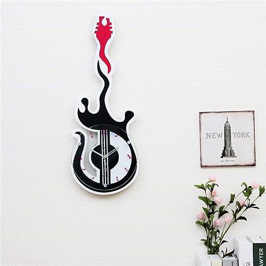 WKAIJCO Relojes De Pared Creativos Guitarra Eléctrica Música Para ...