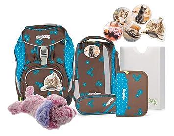 ce752753a919c ergobag pack-Set Ranzenset 6tlg. ERG-SET-001 SchnurrBär + Kuschelhund klein  Plüschtier gratis Pink  Amazon.de  Spielzeug