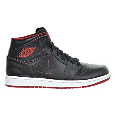 sports shoes 254c8 07780 Jordan Air 1 MID Men s Shoes Black White Gym Red 554724-028 (