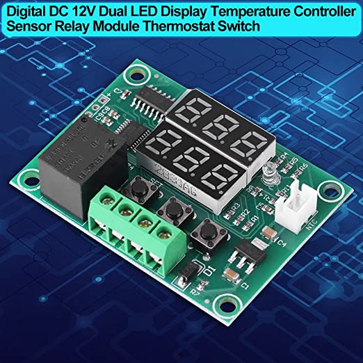 Temperatur Steuerung Wasserfest Thermostat Sensor Relais Dc 12V Display Neu