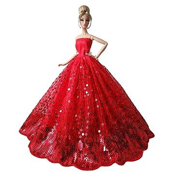 BEETEST Barbie Muñecas Fashion Accesorios Hermosa hada niña muñecas juguetes accesorios para muñecas trajes vestidos de