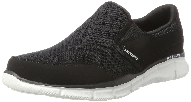 Skechers Equalizer Persistent - zapatilla deportiva de material sintético hombre 41 EU|Negro (Bkw)