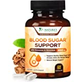 Blood Sugar Support Extra Strength Glucose Metabolism Supplement - 20 Herbs & Vitamin Blend - Made in USA - Best Vegan…